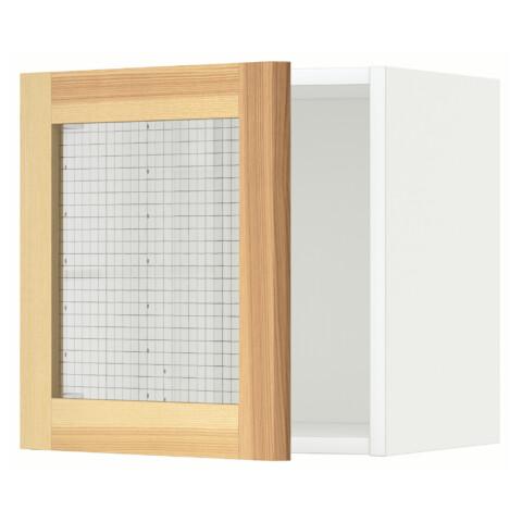 Навесной шкаф со стеклянной дверью МЕТОД белый артикуль № 891.342.37 в наличии. Онлайн магазин IKEA РБ. Недорогая доставка и монтаж.