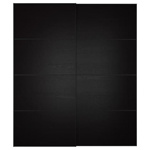 Пара раздвижных дверей ИЛЬСЕНГ черно-коричневый артикуль № 591.913.09 в наличии. Интернет магазин ИКЕА Минск. Быстрая доставка и монтаж.