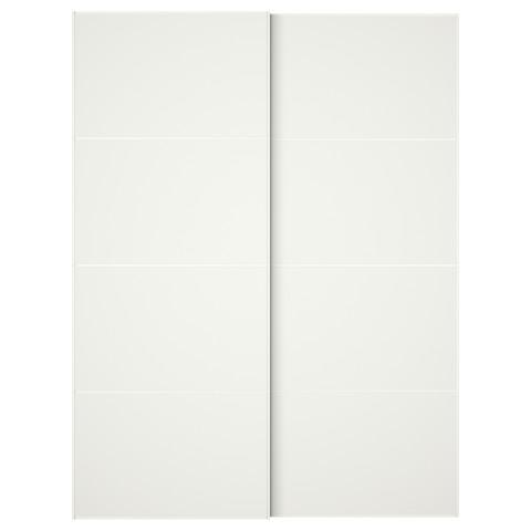 Пара раздвижных дверей МЕХАМН белый артикуль № 191.913.25 в наличии. Онлайн каталог ИКЕА Минск. Быстрая доставка и монтаж.