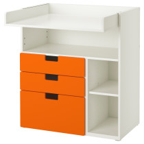 Пеленальный столик с 3 ящиками СТУВА оранжевый артикуль № 891.805.02 в наличии. Онлайн магазин IKEA РБ. Недорогая доставка и монтаж.