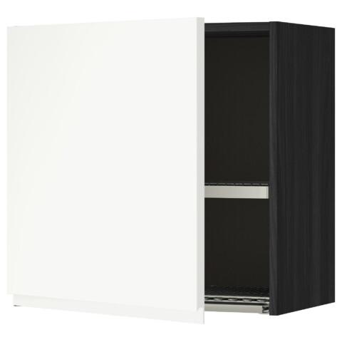 Шкаф навесной с сушкой МЕТОД черный артикуль № 391.114.60 в наличии. Online сайт IKEA РБ. Быстрая доставка и установка.