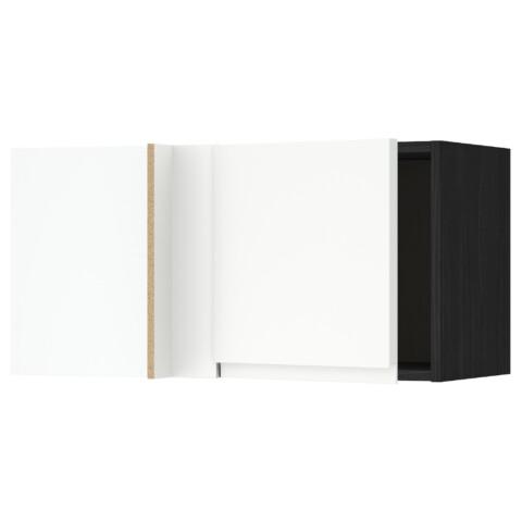 Шкаф навесной угловой МЕТОД черный артикуль № 991.243.70 в наличии. Интернет каталог ИКЕА РБ. Быстрая доставка и установка.
