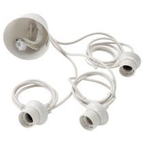 Тройной шнур-подвес ХЕММА белый артикуль № 103.256.59 в наличии. Интернет магазин ИКЕА РБ. Быстрая доставка и монтаж.