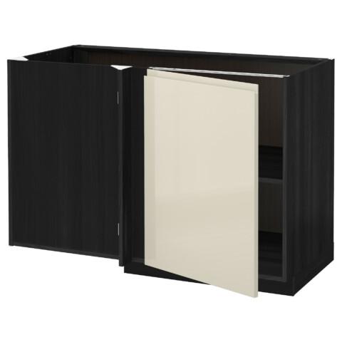 Угловой напольный шкаф с полкой МЕТОД черный артикуль № 291.428.53 в наличии. Online сайт IKEA РБ. Недорогая доставка и установка.