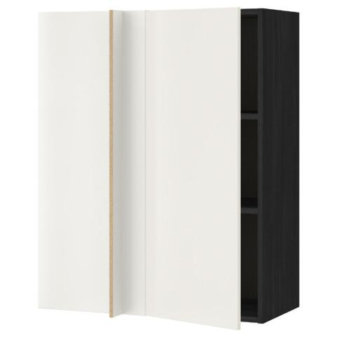 Угловой навесной шкаф с полками МЕТОД белый артикуль № 191.244.87 в наличии. Онлайн каталог IKEA Минск. Недорогая доставка и установка.