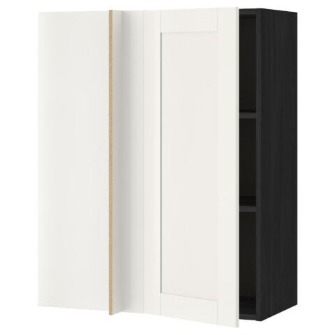 Угловой навесной шкаф с полками МЕТОД белый артикуль № 291.244.82 в наличии. Онлайн каталог IKEA Минск. Недорогая доставка и соборка.