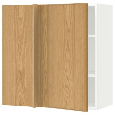 Угловой навесной шкаф с полками МЕТОД белый артикуль № 391.240.85 в наличии. Онлайн каталог IKEA РБ. Быстрая доставка и монтаж.