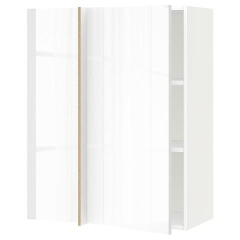 Угловой навесной шкаф с полками МЕТОД белый артикуль № 391.242.69 в наличии. Онлайн сайт IKEA РБ. Быстрая доставка и монтаж.