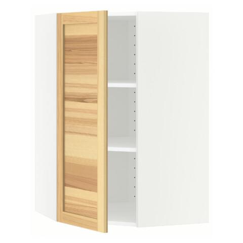 Угловой навесной шкаф с полками МЕТОД белый артикуль № 391.343.05 в наличии. Онлайн каталог IKEA РБ. Быстрая доставка и соборка.