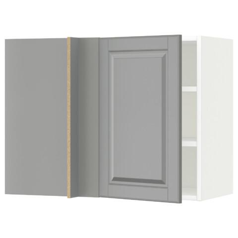 Угловой навесной шкаф с полками МЕТОД белый артикуль № 591.233.82 в наличии. Онлайн сайт IKEA Беларусь. Недорогая доставка и монтаж.