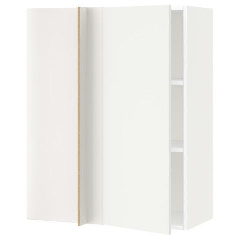 Угловой навесной шкаф с полками МЕТОД белый артикуль № 691.242.58 в наличии. Интернет каталог IKEA Минск. Быстрая доставка и соборка.