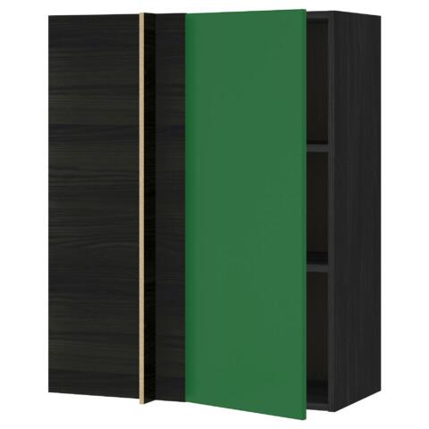 Угловой навесной шкаф с полками МЕТОД зеленый артикуль № 691.244.61 в наличии. Интернет сайт ИКЕА РБ. Недорогая доставка и монтаж.