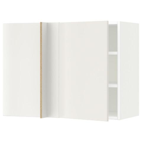 Угловой навесной шкаф с полками МЕТОД белый артикуль № 791.233.95 в наличии. Онлайн каталог IKEA Беларусь. Быстрая доставка и монтаж.