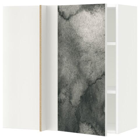Угловой навесной шкаф с полками МЕТОД белый артикуль № 791.588.94 в наличии. Онлайн сайт IKEA Беларусь. Быстрая доставка и монтаж.