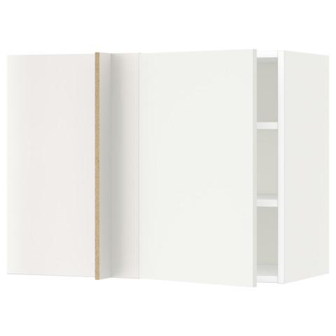Угловой навесной шкаф с полками МЕТОД белый артикуль № 891.233.85 в наличии. Интернет каталог IKEA РБ. Недорогая доставка и установка.