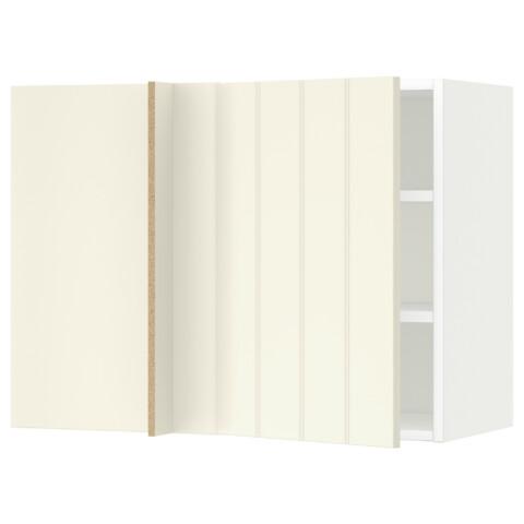 Угловой навесной шкаф с полками МЕТОД белый артикуль № 991.233.99 в наличии. Online магазин IKEA РБ. Быстрая доставка и монтаж.