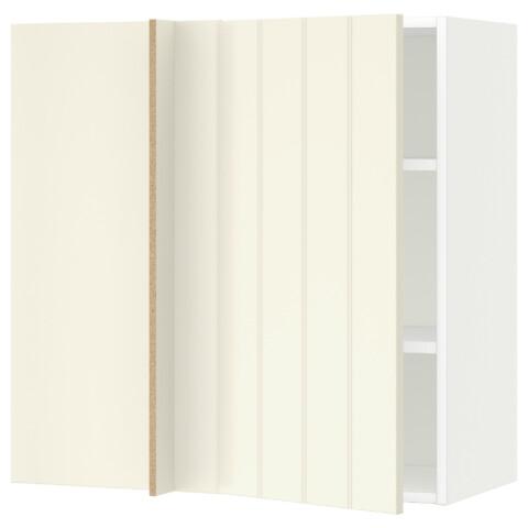 Угловой навесной шкаф с полками МЕТОД белый артикуль № 991.240.92 в наличии. Онлайн каталог IKEA Беларусь. Недорогая доставка и монтаж.