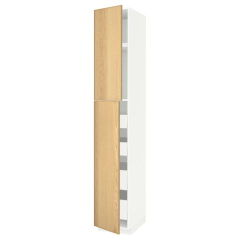 Высокий шкаф/2дверцы/4ящика МЕТОД / МАКСИМЕРА белый артикуль № 091.690.99 в наличии. Онлайн магазин IKEA РБ. Недорогая доставка и монтаж.
