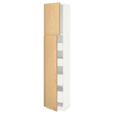 Высокий шкаф/2дверцы/4ящика МЕТОД / МАКСИМЕРА белый артикуль № 291.692.15 в наличии. Интернет магазин IKEA РБ. Недорогая доставка и установка.