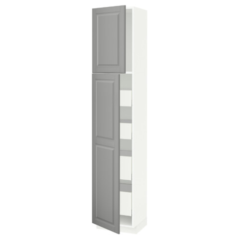 Высокий шкаф/2дверцы/4ящика МЕТОД / МАКСИМЕРА серый артикуль № 591.692.14 в наличии. Интернет каталог IKEA РБ. Недорогая доставка и установка.