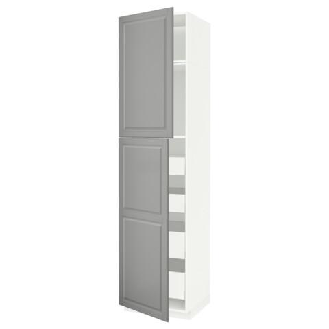 Высокий шкаф/2дверцы/4ящика МЕТОД / МАКСИМЕРА серый артикуль № 691.694.97 в наличии. Интернет сайт IKEA Минск. Недорогая доставка и соборка.