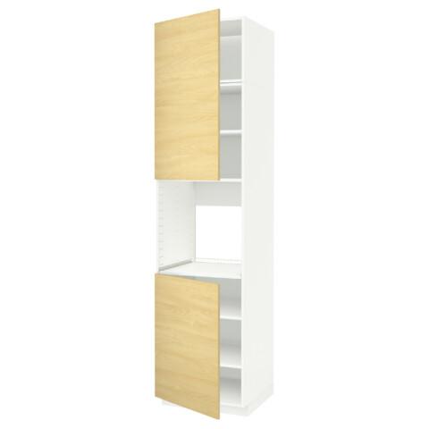 Высокий шкаф для духовки, 2 дверцы, полки МЕТОД белый артикуль № 091.658.45 в наличии. Интернет магазин IKEA Минск. Недорогая доставка и установка.