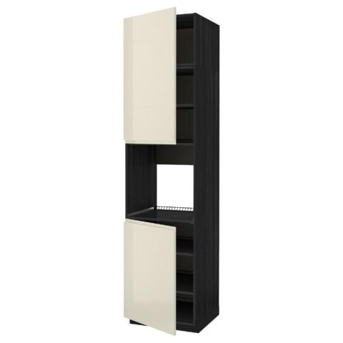 Высокий шкаф для духовки, 2 дверцы, полки МЕТОД черный артикуль № 191.658.16 в наличии. Онлайн магазин IKEA Беларусь. Недорогая доставка и соборка.