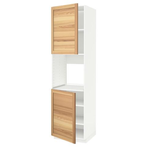 Высокий шкаф для духовки, 2 дверцы, полки МЕТОД белый артикуль № 491.348.33 в наличии. Online магазин IKEA Беларусь. Недорогая доставка и соборка.