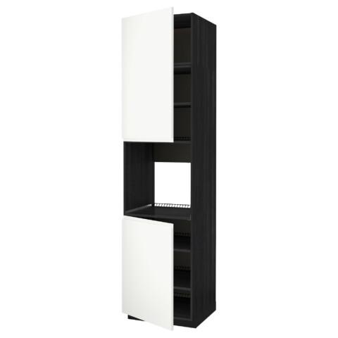Высокий шкаф для духовки, 2 дверцы, полки МЕТОД черный артикуль № 591.658.19 в наличии. Интернет каталог IKEA Беларусь. Недорогая доставка и установка.