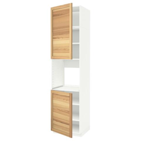 Высокий шкаф для духовки, 2 дверцы, полки МЕТОД белый артикуль № 691.658.47 в наличии. Online магазин IKEA Минск. Недорогая доставка и монтаж.