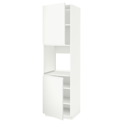 Высокий шкаф для духовки, 2 дверцы, полки МЕТОД белый артикуль № 791.113.78 в наличии. Интернет сайт IKEA Республика Беларусь. Быстрая доставка и установка.