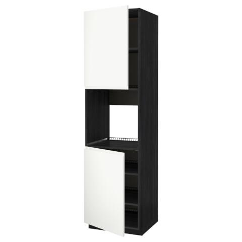 Высокий шкаф для духовки, 2 дверцы, полки МЕТОД черный артикуль № 791.114.82 в наличии. Интернет каталог IKEA Беларусь. Быстрая доставка и монтаж.