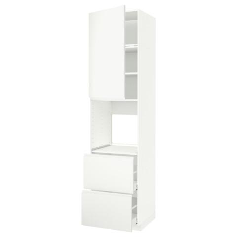 Высокий шкаф для духовки + дверь, 2 ящика МЕТОД / МАКСИМЕРА белый артикуль № 191.696.64 в наличии. Онлайн сайт ИКЕА Минск. Быстрая доставка и установка.
