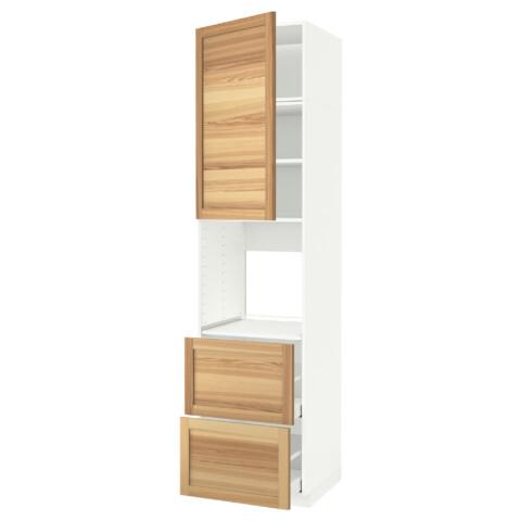 Высокий шкаф для духовки + дверь, 2 ящика МЕТОД / МАКСИМЕРА белый артикуль № 591.696.57 в наличии. Онлайн магазин IKEA Беларусь. Быстрая доставка и соборка.