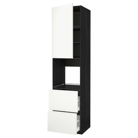Высокий шкаф для духовки + дверь, 2 ящика МЕТОД / МАКСИМЕРА черный артикуль № 691.696.28 в наличии. Онлайн сайт IKEA Беларусь. Недорогая доставка и соборка.