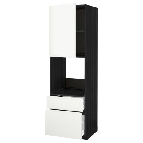 Высокий шкаф для духовки + дверь, 2 ящика МЕТОД / МАКСИМЕРА белый артикуль № 791.309.75 в наличии. Онлайн сайт IKEA Минск. Недорогая доставка и монтаж.