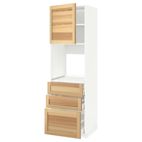 Высокий шкаф для духовки/дверь/3 ящика МЕТОД / МАКСИМЕРА белый артикуль № 191.697.20 в наличии. Online магазин ИКЕА РБ. Быстрая доставка и установка.