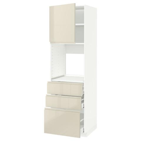 Высокий шкаф для духовки/дверь/3 ящика МЕТОД / МАКСИМЕРА белый артикуль № 391.697.24 в наличии. Интернет магазин IKEA Беларусь. Недорогая доставка и установка.