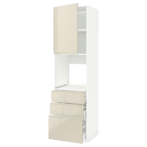 Высокий шкаф для духовки/дверь/3 ящика МЕТОД / МАКСИМЕРА белый артикуль № 391.697.95 в наличии. Online магазин IKEA Минск. Недорогая доставка и монтаж.