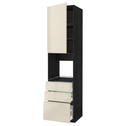 Высокий шкаф для духовки/дверь/3 ящика МЕТОД / МАКСИМЕРА черный артикуль № 591.698.36 в наличии. Онлайн магазин IKEA РБ. Быстрая доставка и соборка.