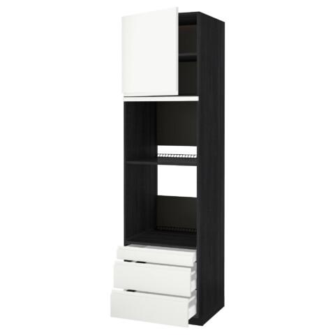 Высокий шкаф для духовки комбинированный, духовка + дверца, 3 ящика МЕТОД / МАКСИМЕРА черный артикуль № 091.309.93 в наличии. Онлайн магазин IKEA РБ. Недорогая доставка и монтаж.