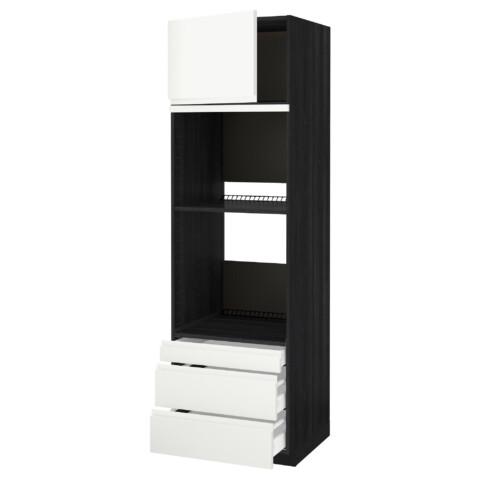 Высокий шкаф для духовки комбинированный, духовка + дверца, 3 ящика МЕТОД / МАКСИМЕРА белый артикуль № 491.309.91 в наличии. Онлайн каталог IKEA РБ. Быстрая доставка и установка.