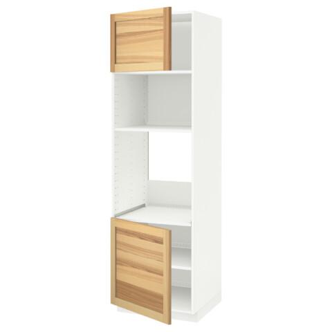 Высокий шкаф для духовки/СВЧ, 2 дверцы, полки МЕТОД белый артикуль № 191.348.39 в наличии. Онлайн магазин IKEA РБ. Быстрая доставка и монтаж.