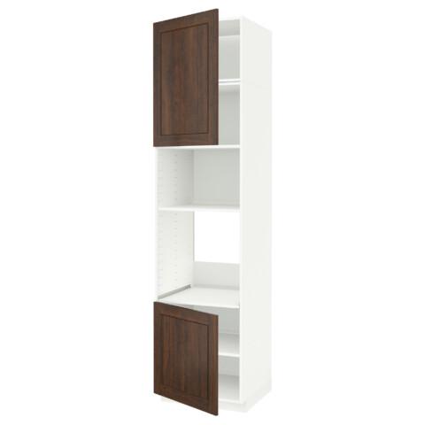 Высокий шкаф для духовки/СВЧ, 2 дверцы, полки МЕТОД белый артикуль № 691.659.65 в наличии. Интернет каталог IKEA Минск. Недорогая доставка и соборка.