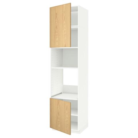 Высокий шкаф для духовки/СВЧ, 2 дверцы, полки МЕТОД белый артикуль № 691.660.12 в наличии. Онлайн каталог IKEA Минск. Быстрая доставка и монтаж.