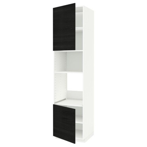 Высокий шкаф для духовки/СВЧ, 2 дверцы, полки МЕТОД черный артикуль № 791.659.79 в наличии. Онлайн сайт IKEA Республика Беларусь. Быстрая доставка и соборка.