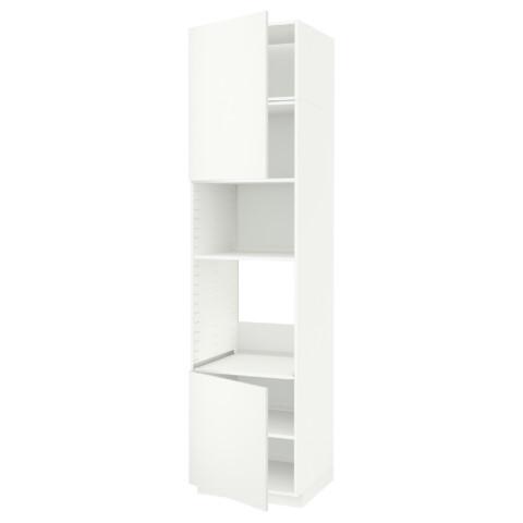 Высокий шкаф для духовки/СВЧ, 2 дверцы, полки МЕТОД белый артикуль № 891.659.69 в наличии. Онлайн магазин IKEA РБ. Быстрая доставка и установка.