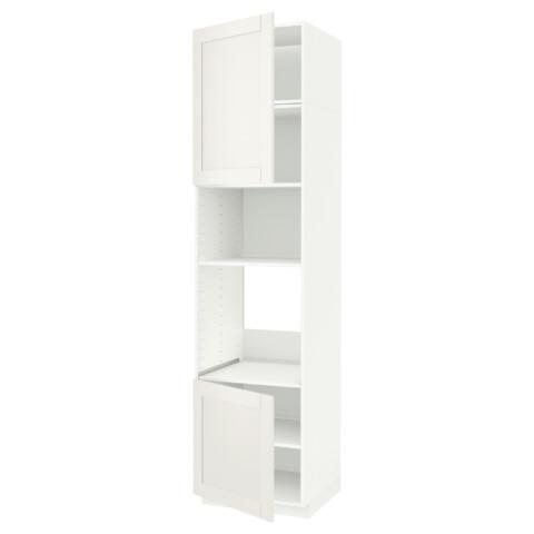 Высокий шкаф для духовки/СВЧ, 2 дверцы, полки МЕТОД белый артикуль № 891.659.88 в наличии. Онлайн сайт IKEA Республика Беларусь. Недорогая доставка и монтаж.