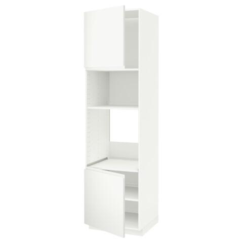 Высокий шкаф для духовки/СВЧ, 2 дверцы, полки МЕТОД белый артикуль № 991.113.82 в наличии. Онлайн сайт IKEA Республика Беларусь. Недорогая доставка и установка.
