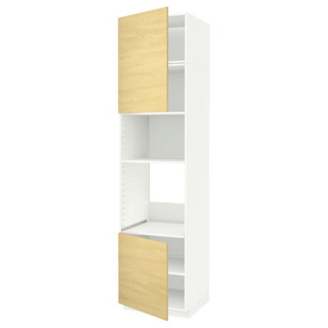 Высокий шкаф для духовки/СВЧ, 2 дверцы, полки МЕТОД белый артикуль № 991.659.78 в наличии. Online сайт IKEA Беларусь. Быстрая доставка и соборка.